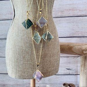 NWT 18K gold natural Flourite crystal